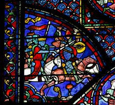chartres cathedral stained glass | Medieval Battle, Chartres Cathedral Stained Glass | Flickr - Photo ...