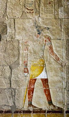 Story Buildings of Egypt Standing Anubis Temple of Queen Hatsepshut