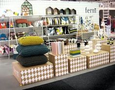 clean and colorful booth space