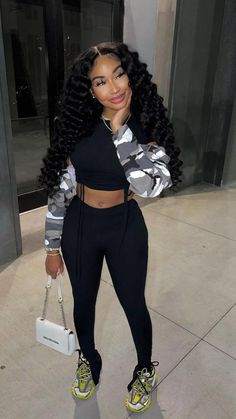 Swag Outfits For Girls, Cute Swag Outfits, Teen Fashion Outfits, Model Outfits, Baddie Outfits Casual, Stylish Outfits, Swaggy Outfits, Chill Outfits, Looks Black