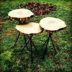 Gonca ağaç kütük zigon sehpa  Wood coffe table