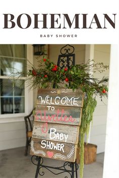 Bohemian Baby Shower - Welcome Sign