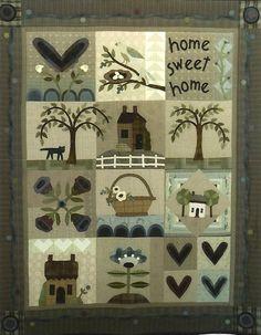 Primitive Folk Art Wool Applique Pattern  HEART by PrimFolkArtShop, $33.00