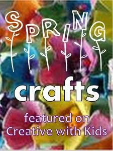 Spring Crafts for Kids Featured on Kids Get Crafty- so many cute ideas that my 2 and 9 year old can both enjoy!