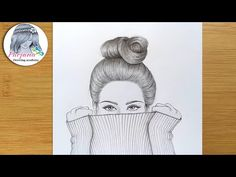 Pencil Sketches Of Faces, Sketches Of Girls Faces, Sketches Of Love, Art Drawings Sketches Simple, Pencil Drawings, Face Sketch, Girl Sketch, Hidden Face, How To Draw Hair