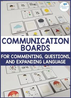 Communication Boards Interactive Activities for Speech Therapy and Special Education Classrooms - activities to increase commenting, teach asking questions, and expanding utterances for children with autism and language delays, ideas push-in preschool spe