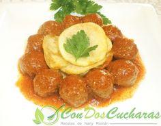 ConDosCucharas.com Albóndigas de pavo con salsa de pimientos - ConDosCucharas.com