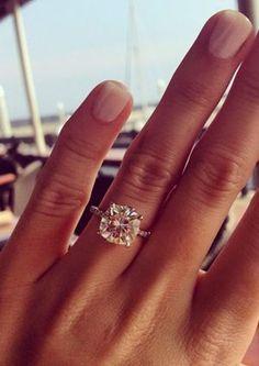 9.5 mm cushion cut brilliant wedding engagement rings. STUNNING.