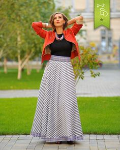 High Waisted Maxi Skirt - Making you want to fly - Colors of Love - Fusta Michele M.