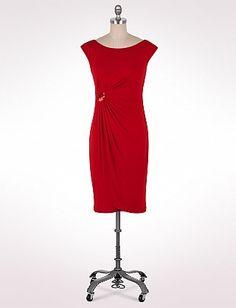 Sequin Detail Faux-Wrap Dress | Dressbarn