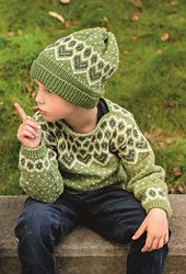 Part of the 320 Collection, the Beehive Pullover & Hat is knit in Dale Falk. Alternative yarns are Dale Heilo and Lerke.