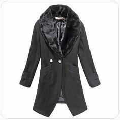 women coat wholesaler online Single-button coats k805 Black