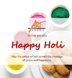 May God paint the canvas of your life with the colors of joy, love, happiness, prosperity, good health and success. Play a safe Holi with natural colors. Art Spice wishing you a very Festivals Of India, Happy May, Happy Holi, Natural Colors, Spices, Happiness, Joy, Paint, Thoughts