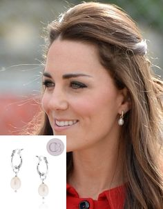 "Kate mixed her Annoushka's ""Baroque Pearl Drops"" with Kiki McDonough ""Yellow…"