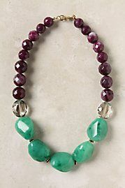 Love Anthro! I am making an original Georgenologie necklace like this with my colors!