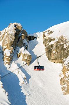 Jackson Hole, Wyo. - SKI Magazine Resort Guide Review - Ski Mag Jackson Hole Tram, Jackson Hole Skiing, Jackson Hole Mountain Resort, Best Family Ski Resorts, Utah Ski Resorts, Hotels And Resorts, Big White Ski Resort, Ski Magazine, Resort Interior