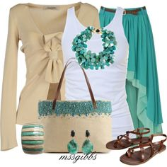 pops of turquoise