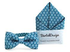 Set Bow Tie & Pocket Handkerchief by BartekDesign: by BartekDesign