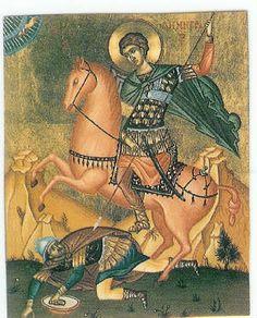Byzantine Icons, Warriors, Saints, Horses, Art, Art Background, Kunst, Performing Arts, Horse