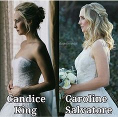 Candice King Vs Caroline Salvatore. Who's dress is better? I think Caroline's is.