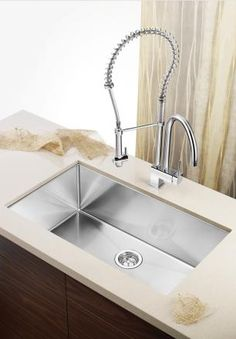 From handcrafted STEELART stainless steel sinks, and the natural warmth and beauty of SILGRANIT/ BLANCO products are celebrated worldwide for their quality Stainless Steel Sink Cleaner, New Kitchen, Kitchen Sinks, Kitchen Ideas, Home Kitchens, Modern Kitchens, Home Interior Design, Kitchen Remodel, Kitchen Design