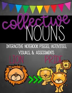 Collective Nouns from For The Teacher College Subjects, Collective Nouns, Singular And Plural, What Is Digital, Alphabet Writing, Progress Report, Interactive Notebooks, 5th Grades, Graphic Organizers
