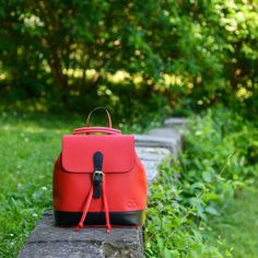 Cool girls know they can get away with an unexpected, casual backpack. Convertible Backpack, Leather Backpack, Cool Girl, Fashion Backpack, Backpacks, Casual, Girls, Red, Bags