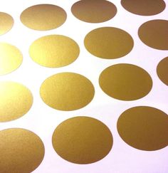 For Gigi's room! Gold Polka Dot Wall Stickers from half inch to 22 inch starting as low as $4.99.