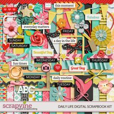 Daily Life Digital Scrapbooking Kit | ScrapVine