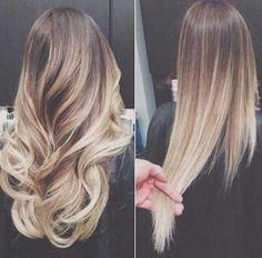 Idées cheveux blonds ondulés-droites