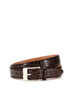 Embossed Leather Belt by Trafalgar at Gilt