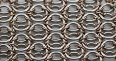Radiator chainmaille weave