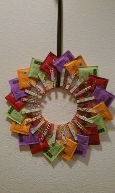 Tea Wreath.  Great Gift For A Tea Lover