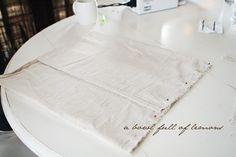 dropcloth diy, drop cloths, cloth idea, barns, number, cloth pillow, pottery barn, bowls, lemon