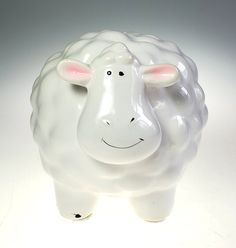Hand Painted Ceramic Sheep Lamb Cloud Still Piggy Bank | Etsy Pennies From Heaven, Sheep And Lamb, Hand Painted Ceramics, Piggy Bank, Cloud, Christmas Gifts, Gift Ideas, Boutique, Unique Jewelry