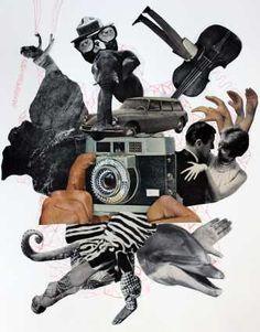 Artust Ryan Wyrick created re//constructed for 2012's Art Prize. These collage pieces are abstractions of thoughts and memories made from found imagery and design.