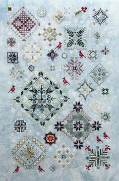 Gallery.ru / Rosewood Manor - Winter Quakers - handmade - fesa