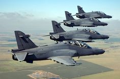 With a total of 24 Hawk in its inventory, of which three are believed to be unserviceable thanks to accidents, the SAAF could set up a separate Hawk squadron with 12 aircraft. This would leave nine aircraft at the Limpopo base for training purposes. Air Force Aircraft, Fighter Aircraft, Fighter Jets, Military Jets, Military Aircraft, South African Air Force, Army Day, Defence Force, Aircraft Carrier