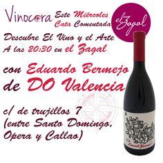 ¿Sabías que el #vino inspira al arte, y el arte al vino? en #Madrid Descubre el Arte de Eduardo Bermejo, a través de las manos de Tony Arráez   Descubre esto y mucho más con vinocora y el vino Eduardo Bermejo DO Valencia, el miércoles a las 20:30, ¡¡¡te invitamos a la copa de la cata!!! y el Chef preparará un pincho para maridar (o armonizar) con el vino. - en El Zagal  TODOS LOS MIÉRCOLES