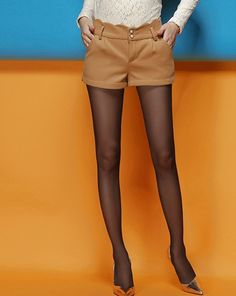 PJ000190 Autumn and winter slim shorts Korean style boots pants