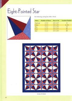 Eight Pointed Star Paper Piecing Patterns, Quilt Patterns Free, Pattern Paper, Star Quilt Blocks, Star Quilts, Quilting Projects, Quilting Designs, Geometric Pattern Design, String Quilts