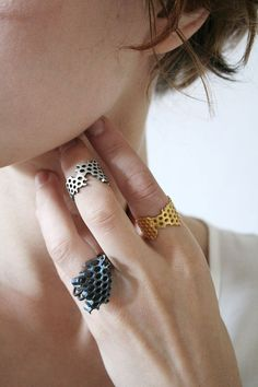 Karolina Bik Honeycomb Ring