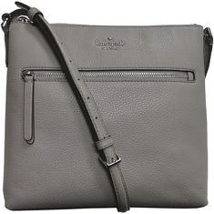 Kate Spade New York Jackson Top Zip Crossbody Bag Pebble Leather Soft Taupe Gray Designer Handbags handbags. Crossbody Phone Purse, Travel Purse, Cross Body Handbags, Pebbled Leather, Michael Kors Jet Set, Taupe, Jackson, Kate Spade, Gray Shoes
