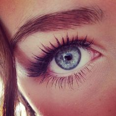 luscious lashes and perfect eyebrows.