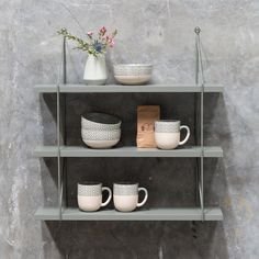 In stores now // The sisters suggest that you put your everyday tableware on display on beautiful shelves. . Metal shelving unit with three wooden shelfs. Price per item DKK 27400 / EUR 3796 / FO-DKK 31900 / ISK 6840 / NOK 37900 / GBP 3660 / CHF 4948 / SEK 37800 . . #shelves #shelvingunit #homedecorating #homestyling #homedecor #sostrenegrene #søstrenegrene #grenehome
