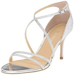 Ivanka Trump Womens Garis2 Dress Sandal Silver 8 M US ** Visit the image link more details.(This is an Amazon affiliate link)