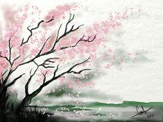 how to draw cherry blossom tree - Google-søk