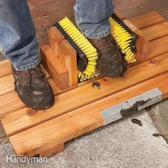 Build this handy boot scraper yourself in less than two hours. Now you can clean your muddy boots hands-free and help keep your entryway clean. Works great