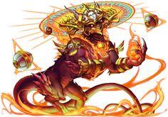 No.1182 焚魔傲龍 ‧ 皮亞沙 Evil-purging Dragon of Flames - Piasa #神魔之塔 #神魔_古蹟源龍