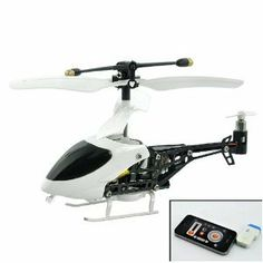 Mini - Iphone/ipad/ipod Touch Controlled Rc Helicopter by Fordex Group. $200.00. Specifications Battery: 3.7V 80mAh Li-Polymer Movement: Left/Right Rotation, Forward/Back, Hover and Land Control Range: 12 meter 3 Channel Band Selection (A/B/C) Gyro Tilt Control Suitable for all iPhone, iPad and iPod Touch models Charging Time:  - Transmitter: 120 minutes  - Helicopter: 40 m Playing Time:  - Transmitter: 120 minutes  - iHelicopter: 6 minutes